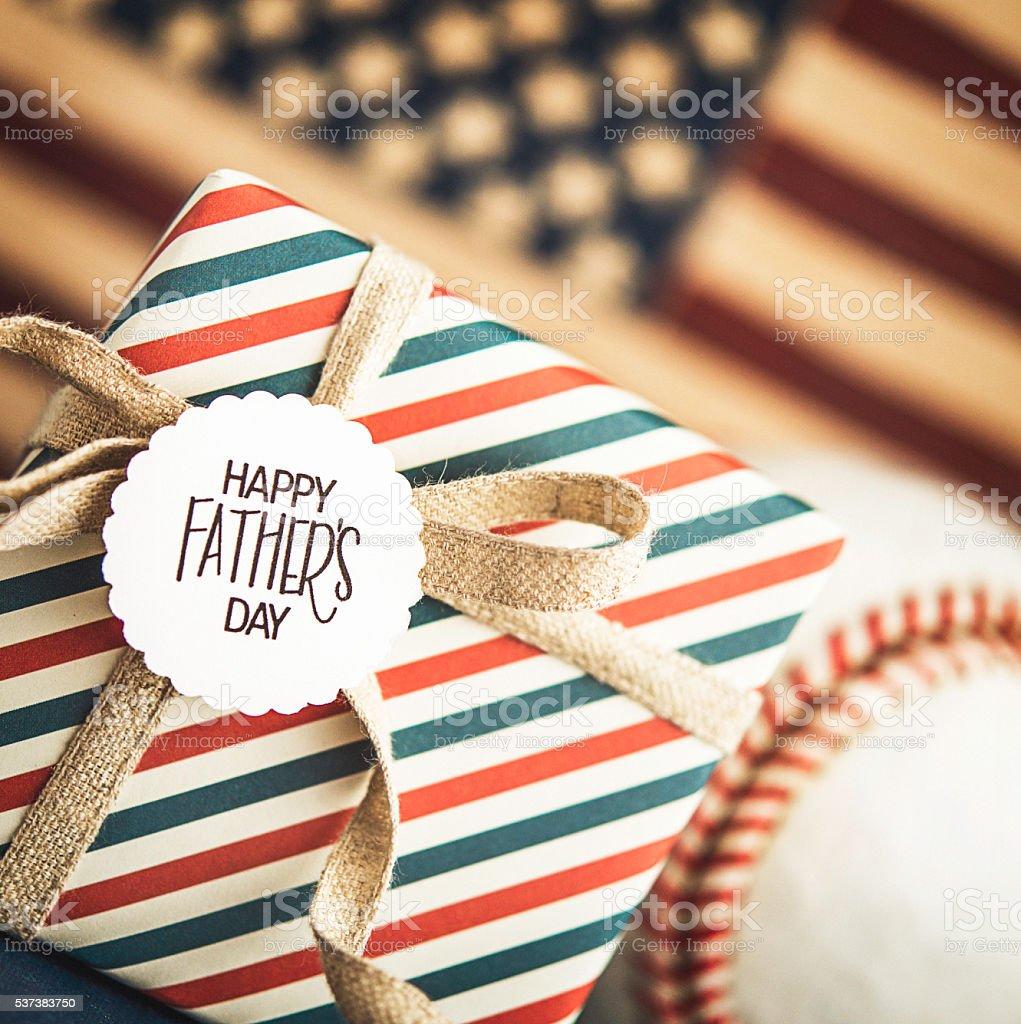 Dia dos pais presente para um pai americano - foto de acervo