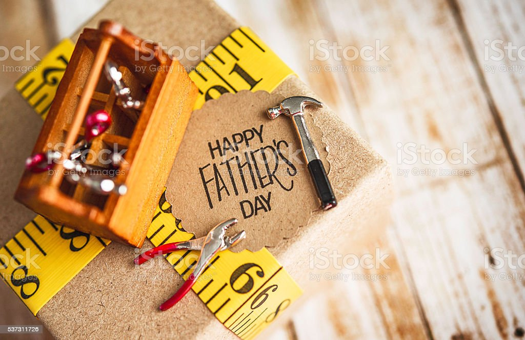 Fathers Day Gift For Diy Dad With Toolbox And Tools Stock ...