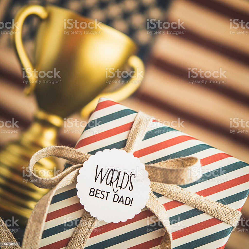 Father's Day gift for the World's Best Dad stock photo