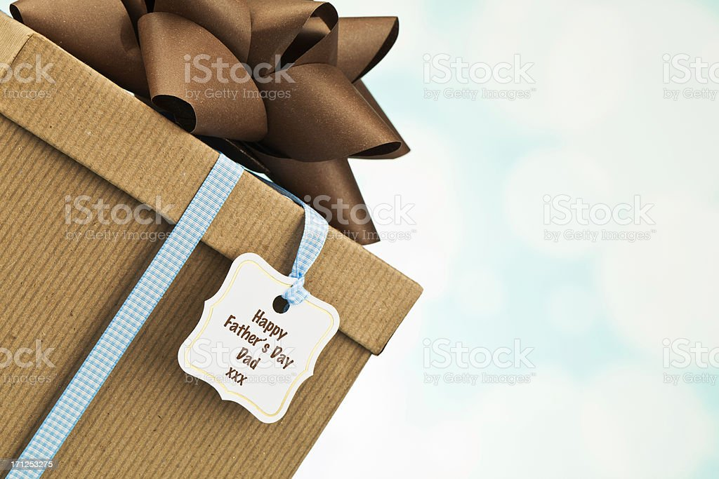 Father's Day Gift in Recycled Packaging royalty-free stock photo