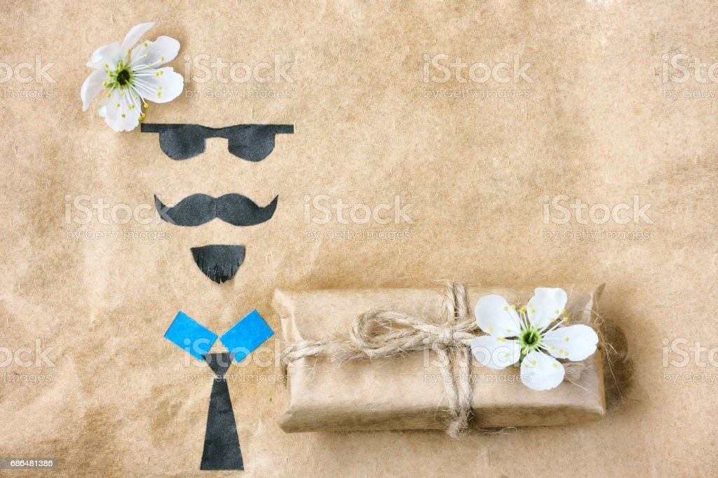 Father's day, greeting card applique stock photo