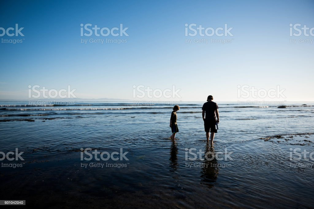 Father's Day in a beautiful location stock photo