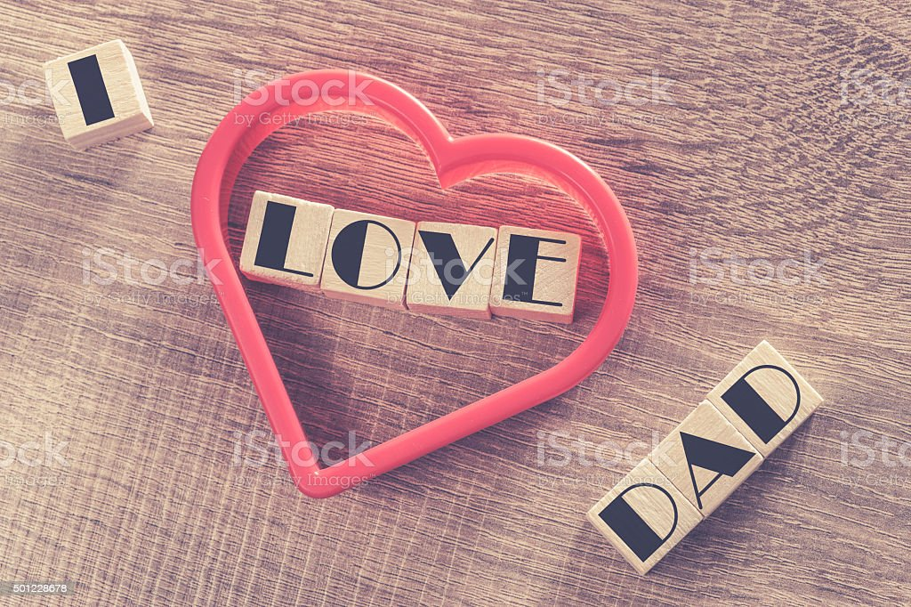Father's Day message stock photo