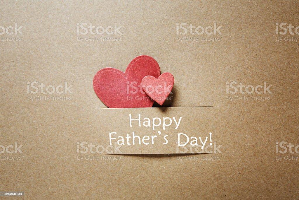 Dia dos pais mensagem com corações vermelhos - foto de acervo