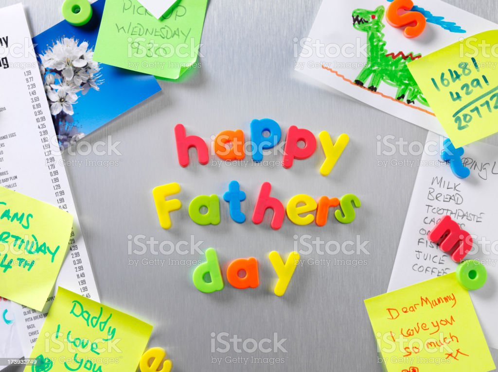 Father's Day Notice royalty-free stock photo