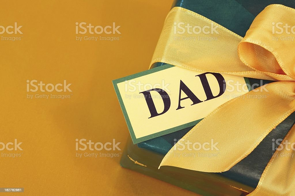 Father's Day or birthday Gift box wrapped for Dad royalty-free stock photo