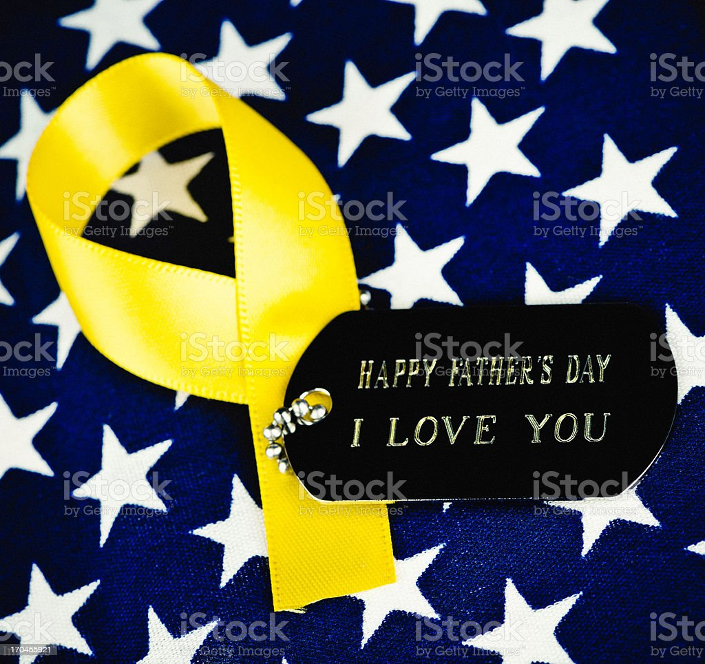 Father's Day Wishes for the Military Dad stock photo