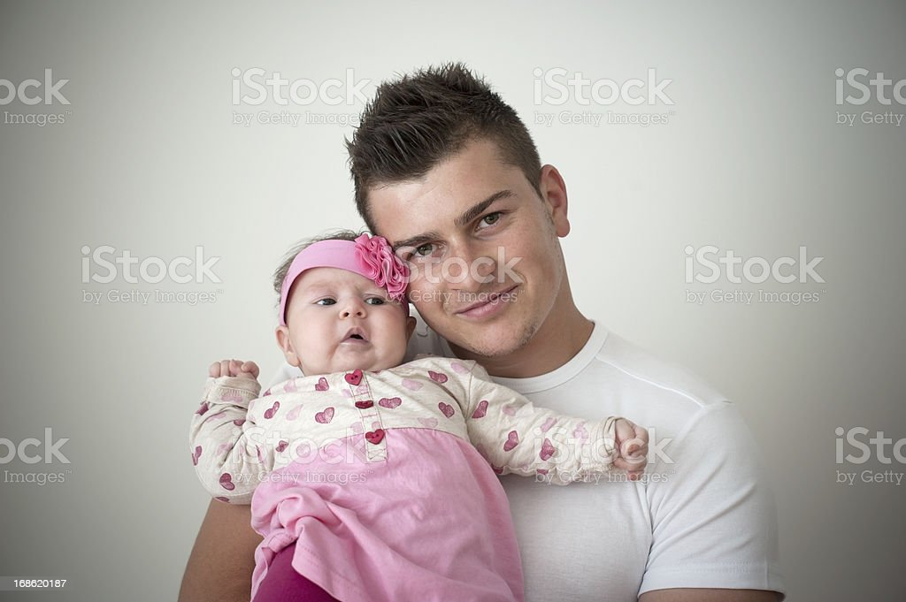 Father's Embrace royalty-free stock photo