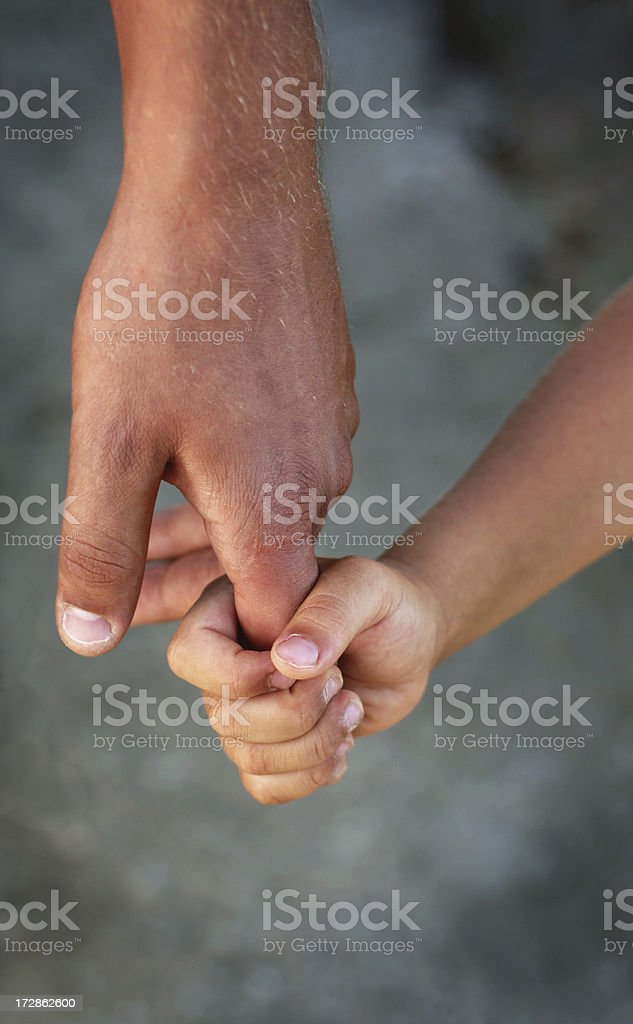 father's hand royalty-free stock photo