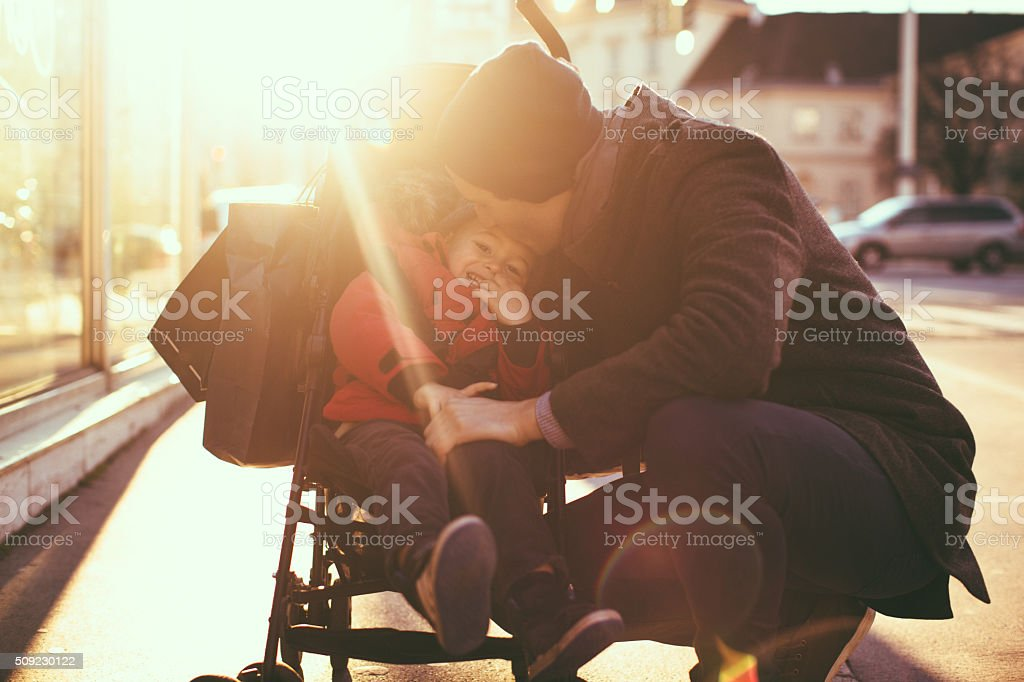 Father's love stock photo