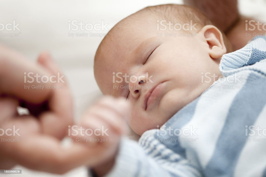 Father's Tender Touch stock photo