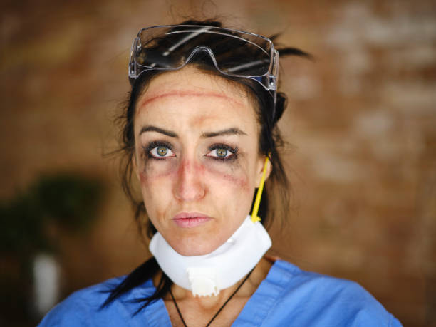 Fatigued Healthcare Worker stock photo