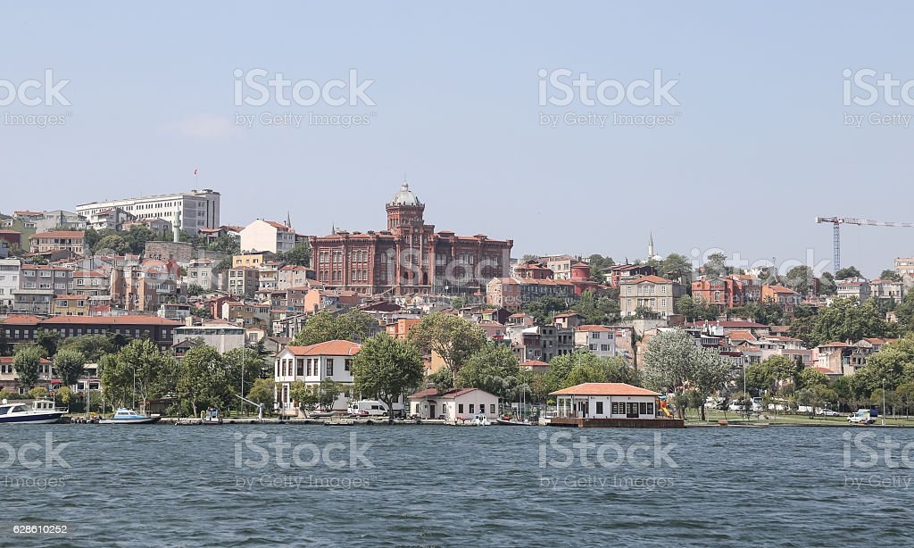 Fatih district in Istanbul City stock photo