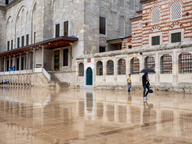 Fatih Mosque, Fatih district, Istanbul, Turkey. stock photo