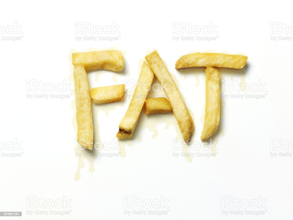 fatty chips royalty-free stock photo