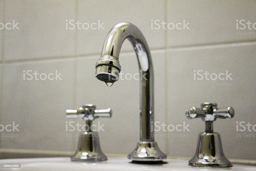 Faucet closeup stock photo