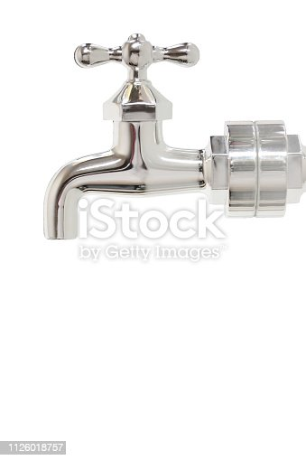 faucet with with background in studio