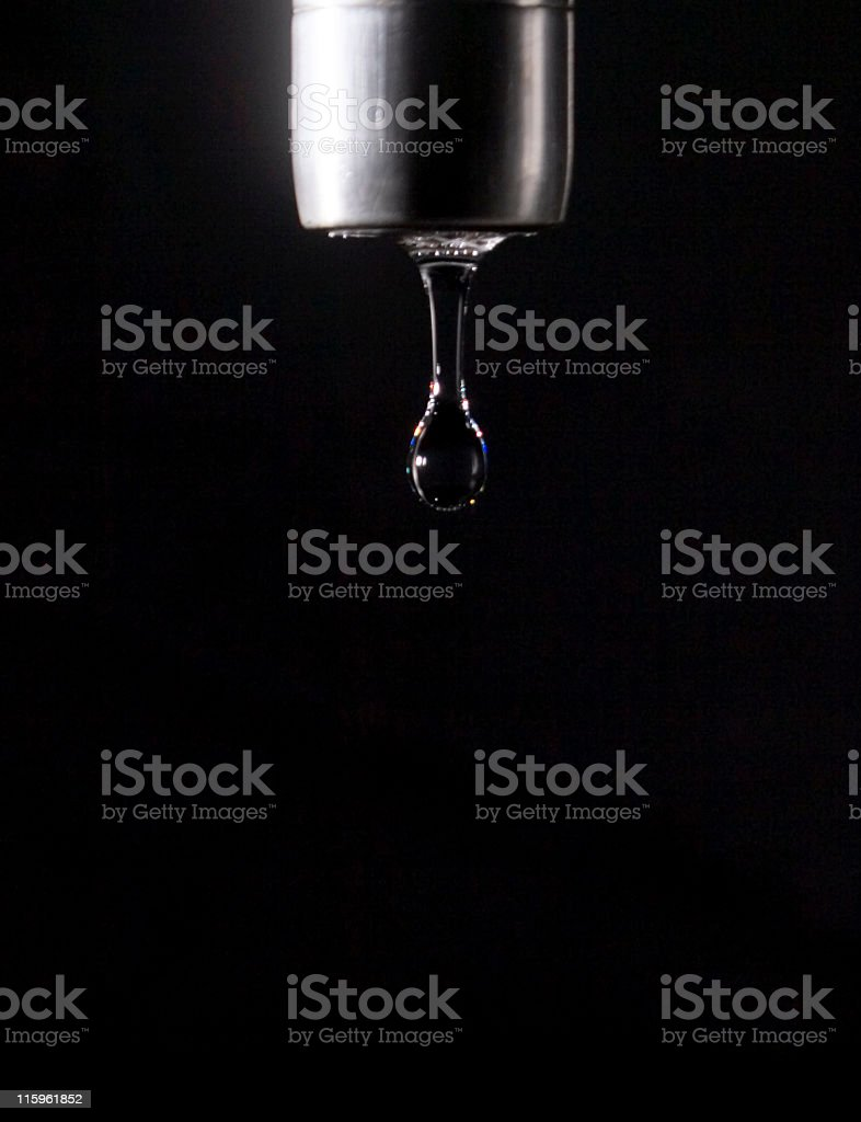 Faucet Drip On Black Background 1 Stock Photo & More Pictures of ...
