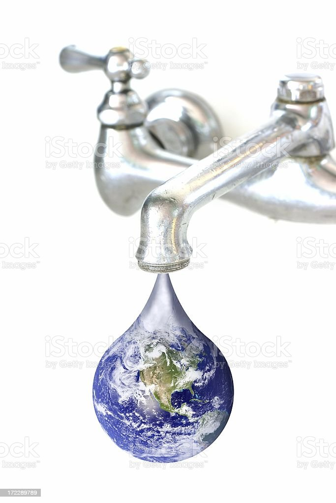 Faucet Earth Drip - One royalty-free stock photo