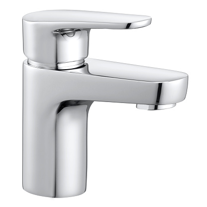Faucet isolated white background
