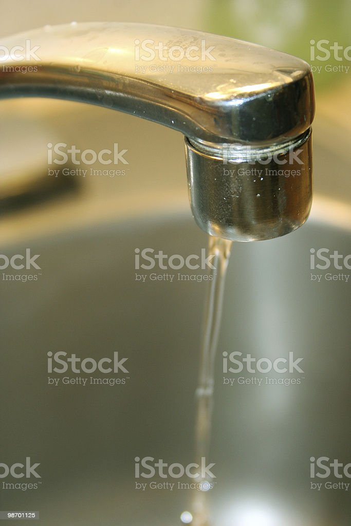 Faucet leaking royalty-free stock photo