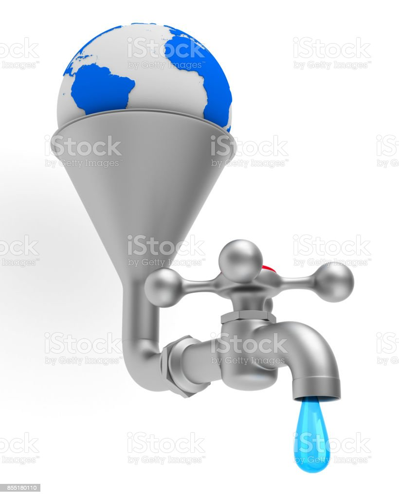 faucet on white background. Isolated 3D illustration stock photo