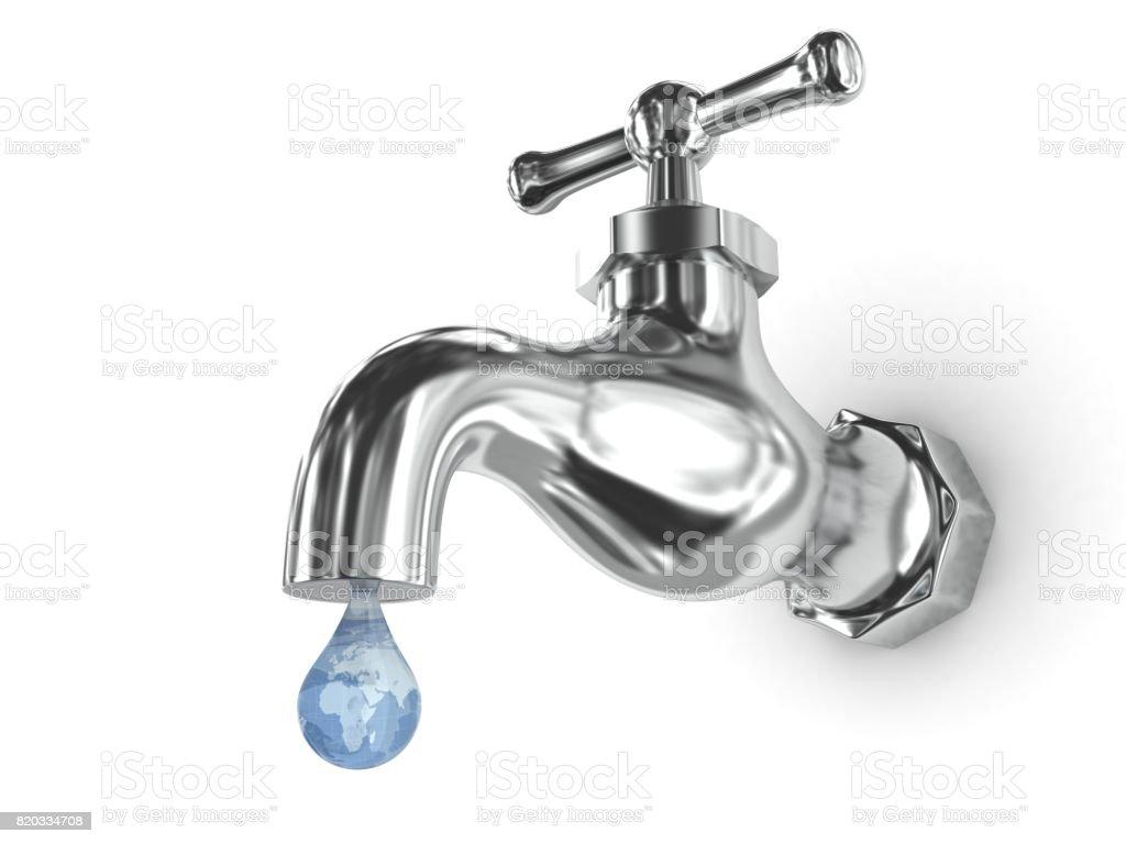 Wassertropfen Wasserhahn Undicht Stock Fotografie Und Mehr Bilder