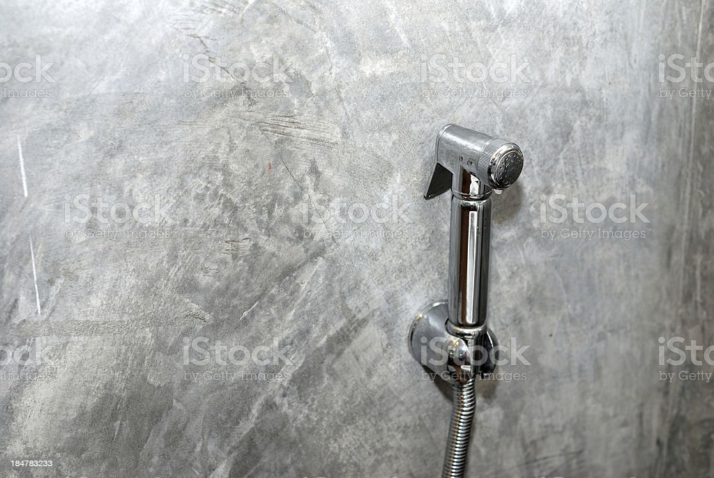 Faucet water sprayer royalty-free stock photo