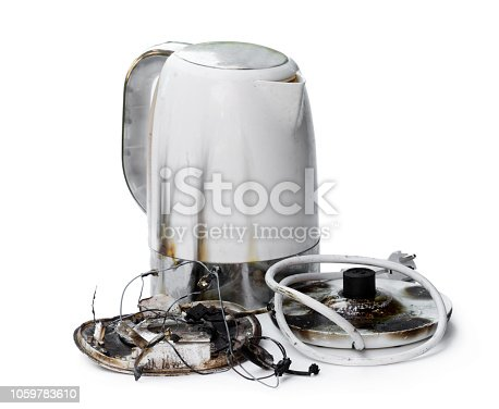 1015604978 istock photo Faulty automatic electric kettle caught fire 1059783610