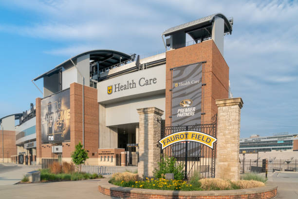 Faurot Field at the University of Missouri stock photo