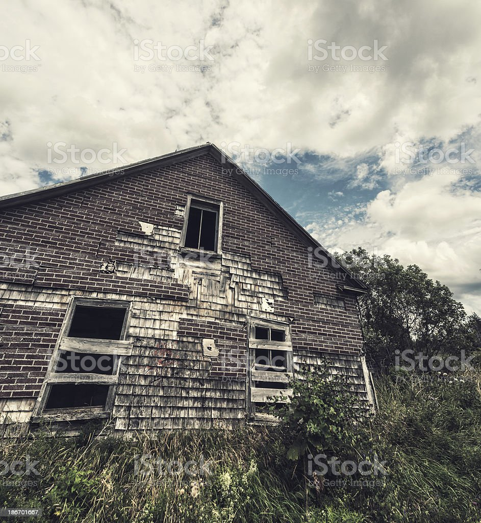 Excellent Faux Brick Exterior Stock Photo More Pictures Of Abandoned Download Free Architecture Designs Pushbritishbridgeorg