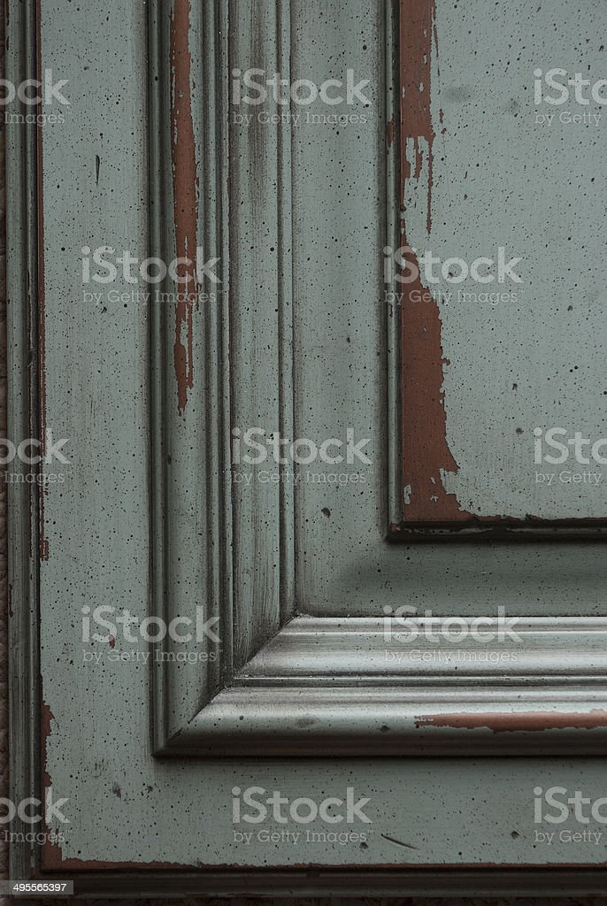 Faux Distressed Door stock photo