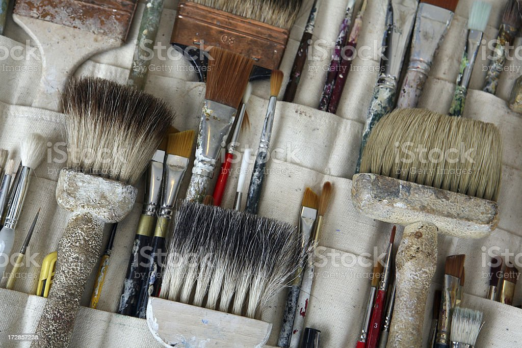 Faux Painting Brushes royalty-free stock photo