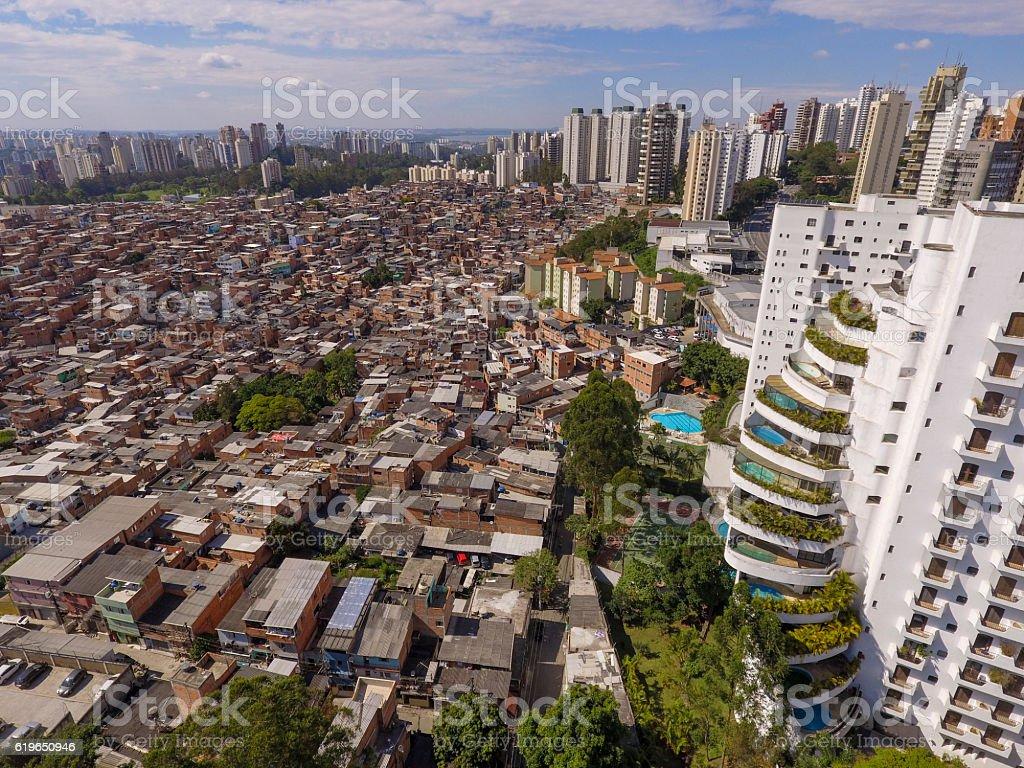 Favela do Paraisópolis royalty-free stock photo