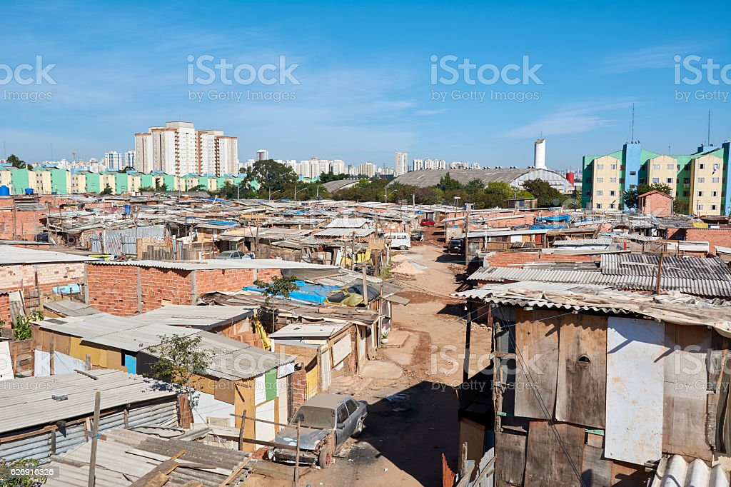 Favela in Sao Paulo stock photo