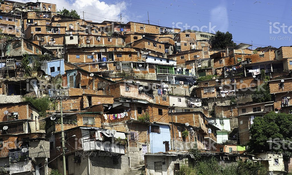 Favela of Caracas city royalty-free stock photo