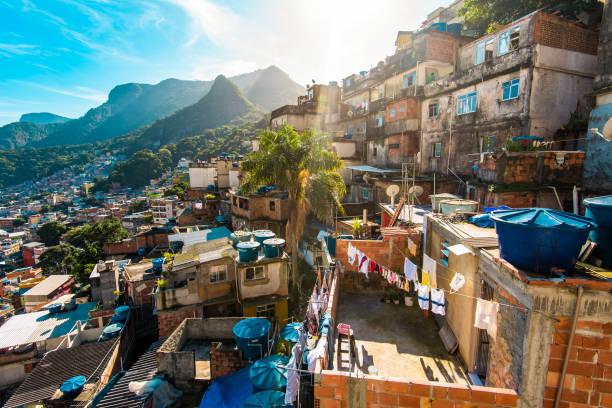 Favela Rocinha in Rio de Janeiro stock photo