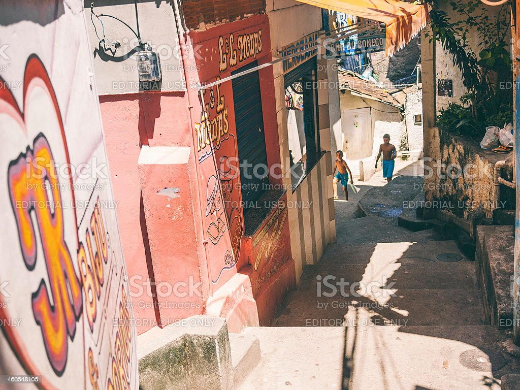 Favela streets. royalty-free stock photo