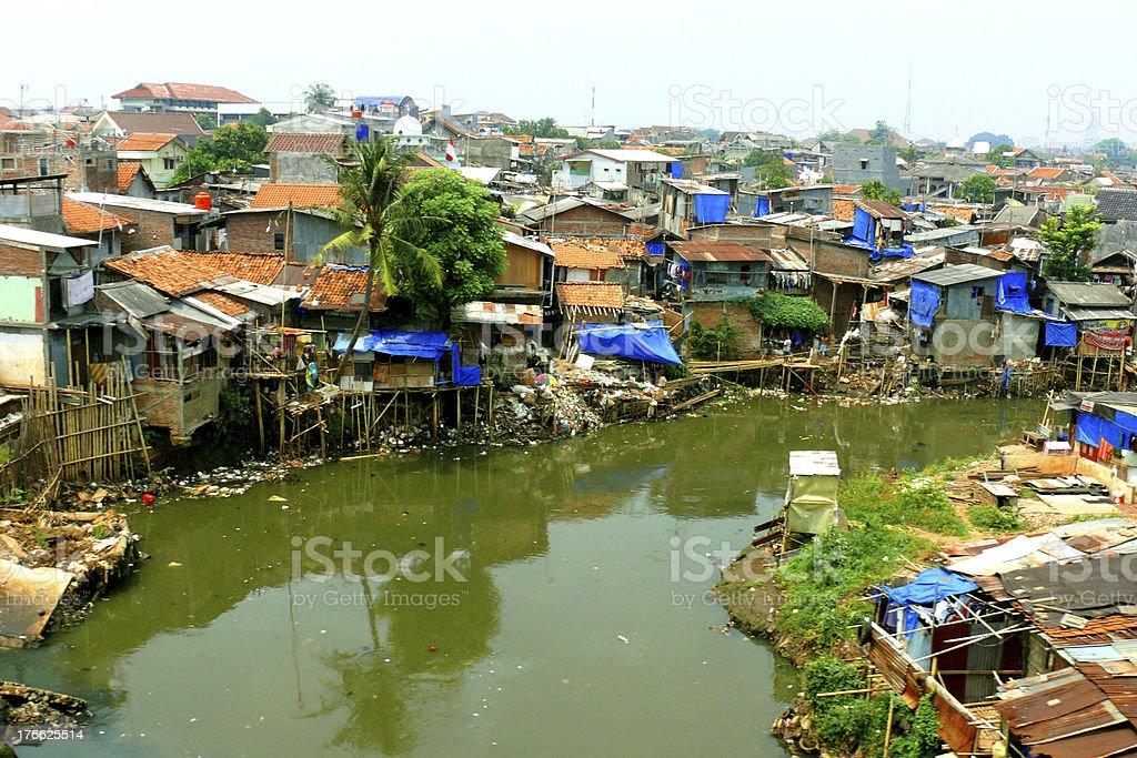 favelas jakarta royalty-free stock photo