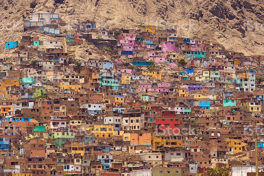 Favelas of Lima Peru stock photo