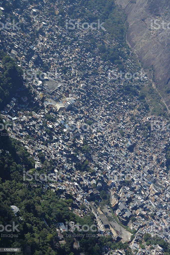 Favelas of Rio de Janeiro royalty-free stock photo