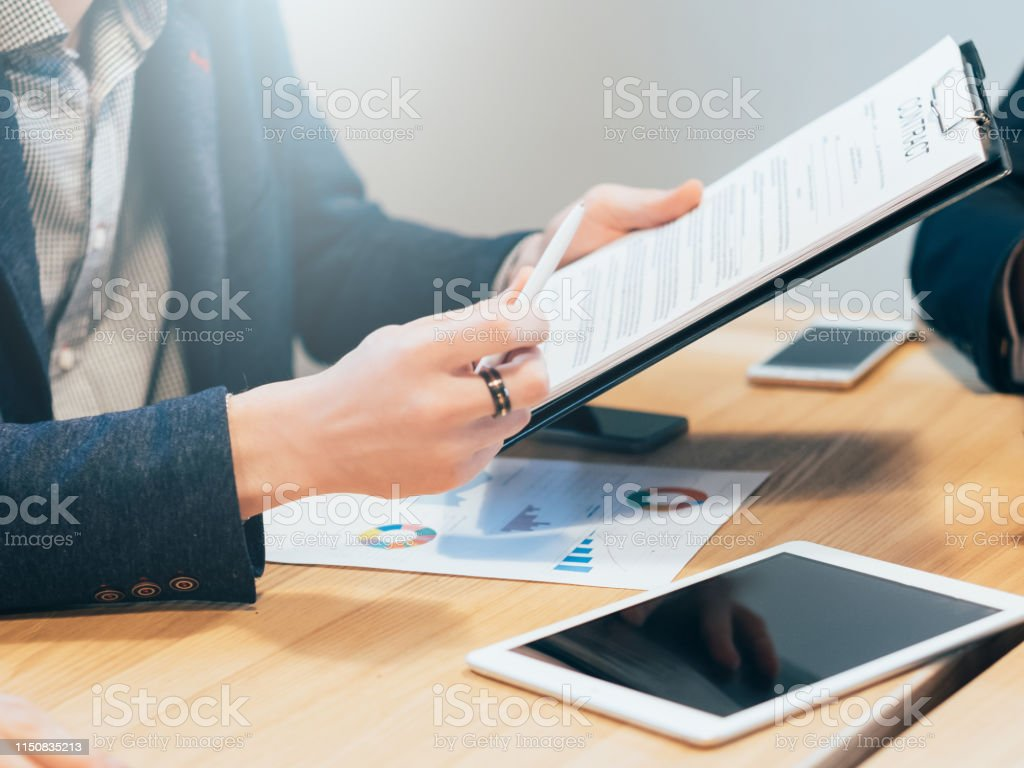 Favourable terms of collaboration. Business relations. Closeup of...