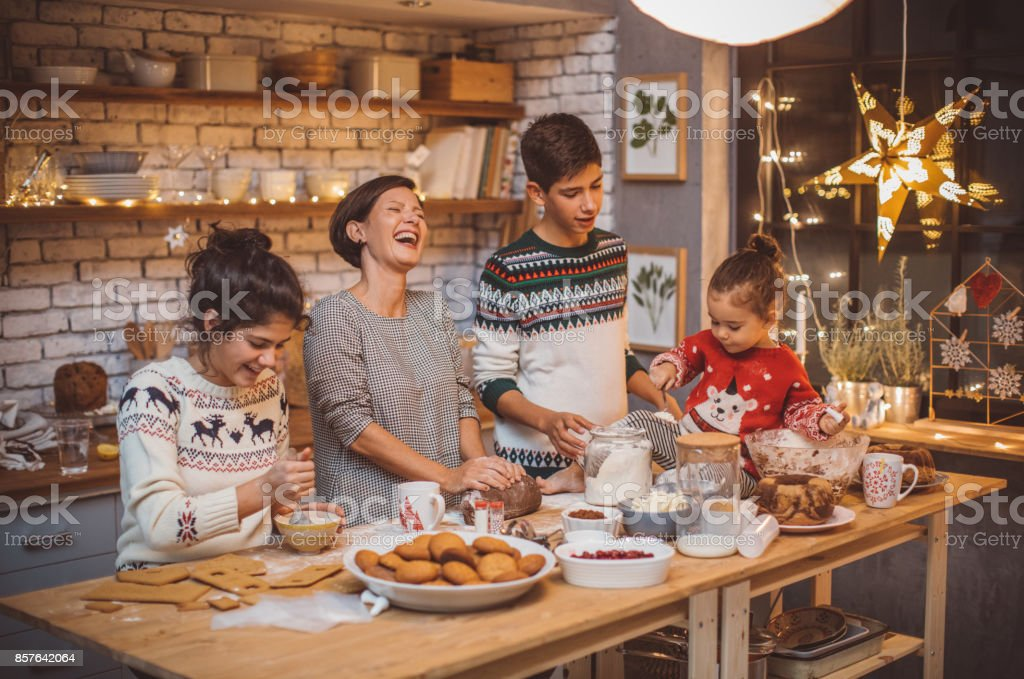 Favorite family tradition stock photo