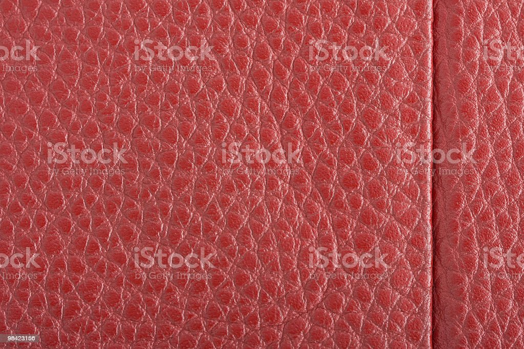 Fawn leather with red stitching. royalty-free stock photo