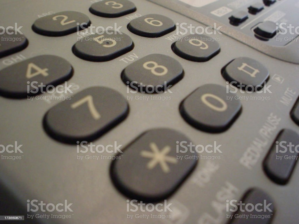 Fax dial royalty-free stock photo