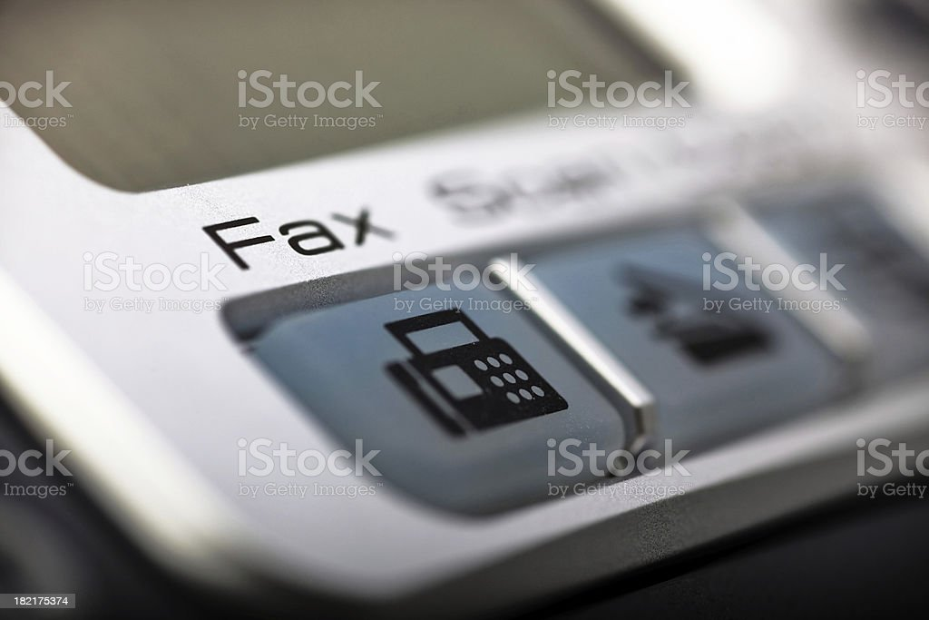 Fax in Focus stock photo
