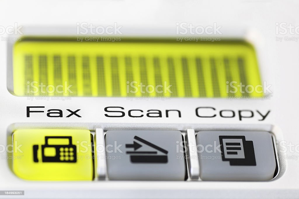 Fax is Ready royalty-free stock photo