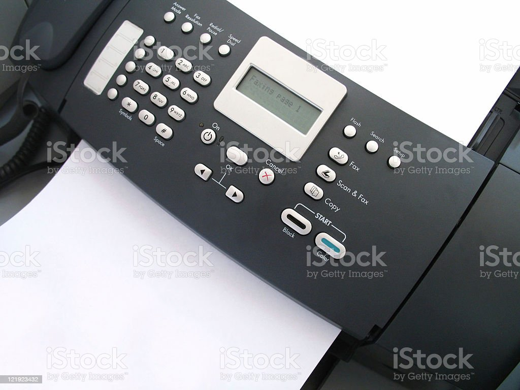 fax machine copier scanner and printer stock photo