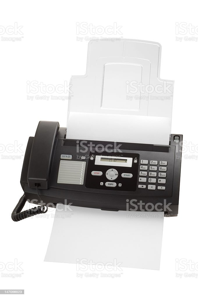 Fax machine royalty-free stock photo