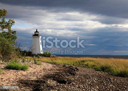 Fayerweather Island, Black Rock Harbor, Bridgeport, Connecticut, lighthouse